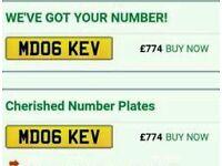 Private registration sale or swap MD06 KEV