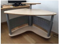 Corner PC / Computer Desk Table with Display Shelf, Home Office, portable Workstation