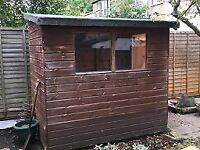 Garden shed 2 x 1.5m in good condition, fully dismantled