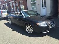 Audi A4 convertible BLACK Sline Quattro 3ltr twin turbo diesel