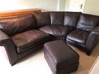 3-Piece Leather Corner Sofa