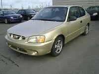 2002 Hyundai Accent Coupé (2 portes)