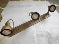Edgeware Spot Light Strip in Antiqued Brass - 3 Spots