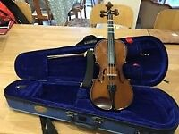 1/8 Size Stentor violin with case and chin rest