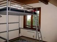 ikea double loft bed white