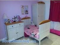 East Coast Joanna Nursery Set - Cot Bed, Wardrobe, Changing Station/Cupboard
