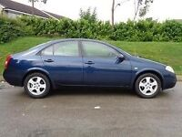 Nissan primera 1.8 petrol tax and tested till next year July