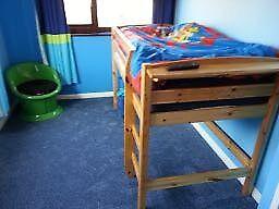 Stompa mid-sleeper pine single bed