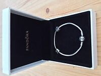 Pandora moments sterling silver charm bracelet