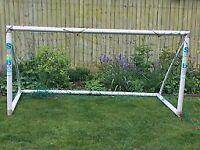 Sambagoal football goal posts (4' x 8'), net and bag with spares