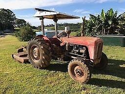 Selling Massey Ferguson FE-35 3 cylinder tractor with Slasher