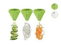£4 Ernesto spiral vegetable cutter set easy slicing new