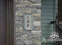 Customized Stone Number Plaques