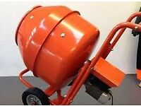 New Electric 240V/110V, 1/2 Bag Cement Mixer, HD Gearbox Driven, Ballynahinch