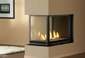 FLOOR MODEL 3 Sided Gas Fireplace - 40% OFF! - BARELY USED