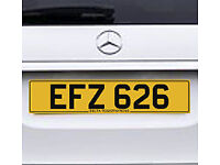 EFZ 626 – Price Includes DVLA Fees – Cherished Personal Private Registration Number Plate
