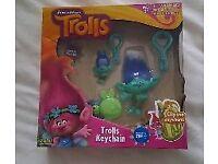 Trolls Keychain Set/ Toy