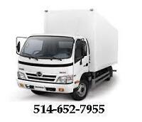 Déménagement 55 h 2 déménageurs + camion 20 pi, livraisons