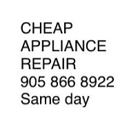Cheap appliance repair.  We want your business call now