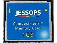 1Gb Compactflash card, Jessops