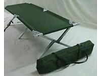 Folding aluminium camp bed