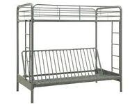 used metal futon bunk bed - optional mattresses