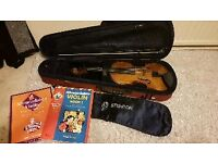 Stentor 2 gorgeous violin with music student books and Carbon Fibre NEW BOW