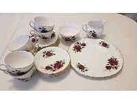 China tea cup set & cake plate & more. Wedding China