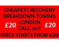 24-7 breakdown recovery service