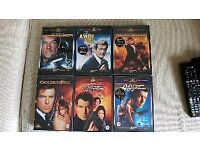 6x James Bond 007 DVD's.