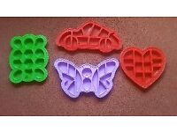 50 xLarge Jigsaw silicone cake moulds in various shapes,
