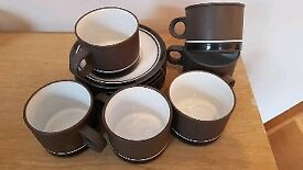 Set of 6 hornsea pottery cups and saucers