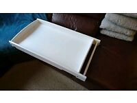 White universal cot top changer