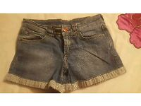 Joules ladies denim shorts size 8