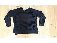 French Connection black ribbed jumper size M