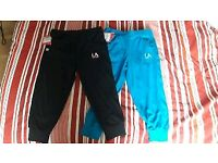 2 x Girls Sports 3/4 Bottoms Age 11-12 Brand New