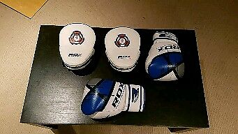 RDX boxing gloves and pads