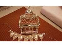 Decorative Birdcage and Bunting