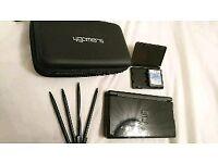 Nintendo DS Lite black + case + 1 game - like new