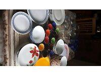Crockery ( Huge sets of dinner essentials)