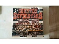 Country Superstars 6 vinyl records