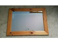 Waxy pine mirror