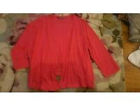 Ladies short waterfall cardigan size 18