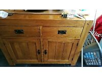 Solid oak kitchen unit