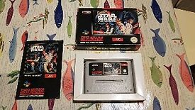 Nintendo snes game super star wars