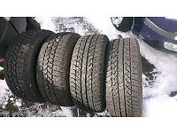 215 55 R16 all wheather winter mud and snow M+S tyres 2x9mm 2x7mm tread