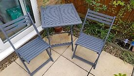 Bistro set table and 2 chairs garden patio table and chairs