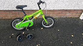 Boys ridgeback green bike 14 inch