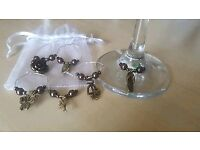 Personalised table decorations made to order/ wine glass charms