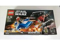 LEGO microfighter twin pack. A-Wing vs Tie Silencer. Brand New Sealed
